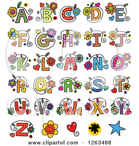 christmas alphabet letters clipart