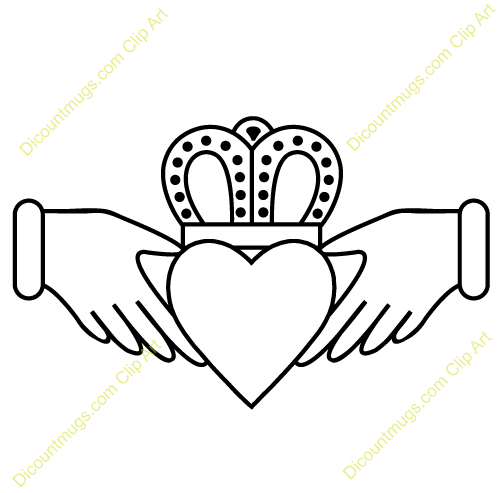 Clipart 11949 Claddagh With Intricate Crown   Claddagh With Intricate