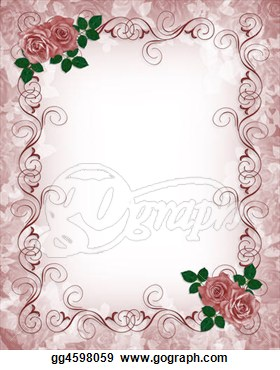Clipart   Invitation Template Red Roses  Stock Illustration Gg4598059