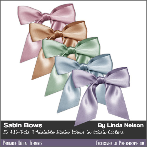 Free Satin Psd Ribbons And Bows Clipart Png By Pixelberrypie On
