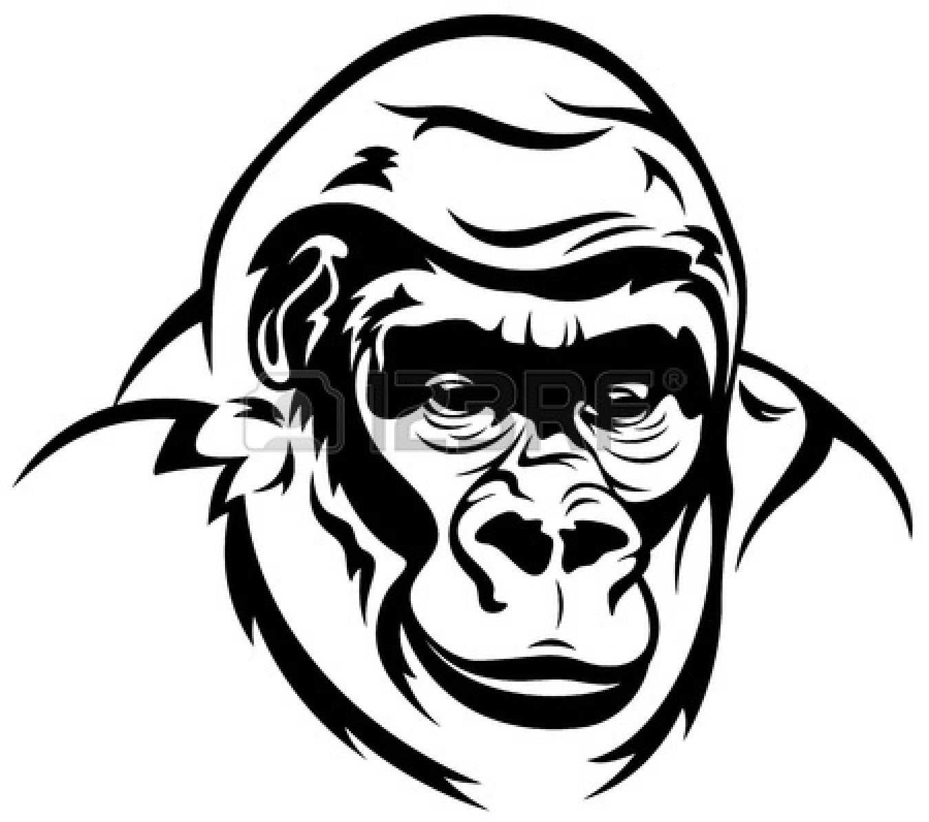 Gorilla Clip Art Black And White   Clipart Panda   Free Clipart Images