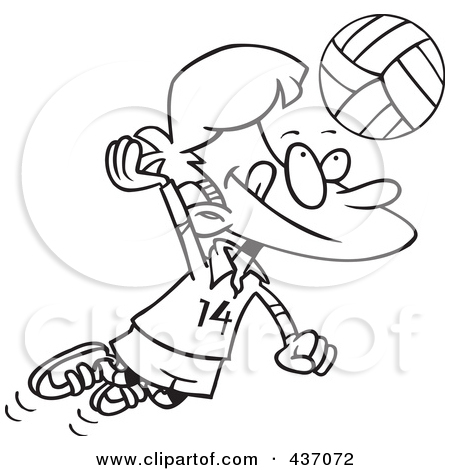 Mud Volleyball Clipart