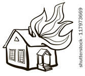 On Fire Man On Fire Building House Home Fire Cartoon Houses Burning