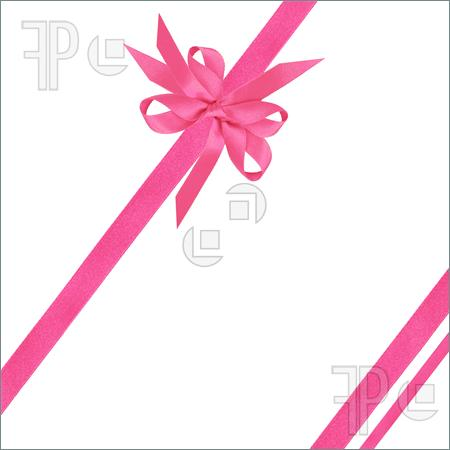 Picture Of Pink Satin Ribbons And Bow