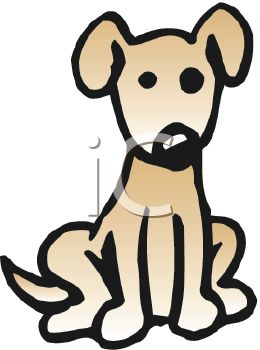 Royalty Free Clipart Image  Cute Little Brown Dog