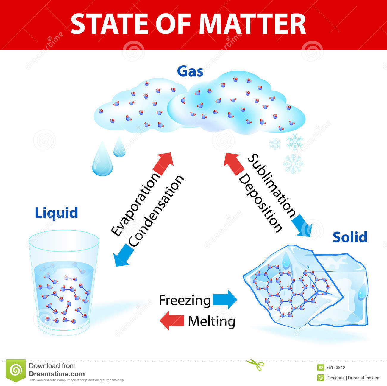 State Of Matter  Vector Diagram Stock Photography   Image  35163812