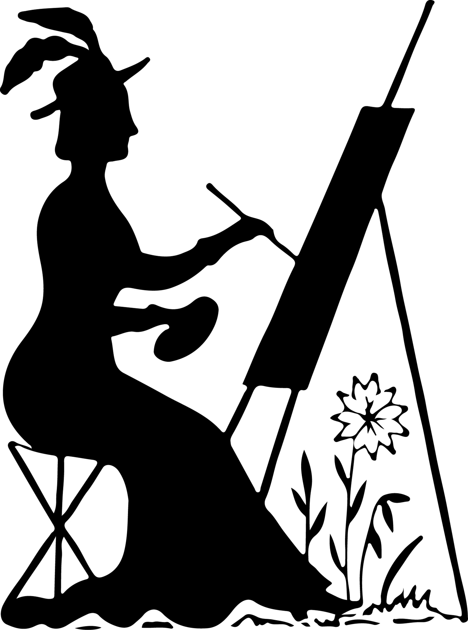 Woman Silhouette Painting Clipart - Clipart Kid