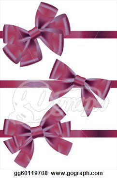 Types Of Purple Satin Ribbons With Bows  Clipart Drawing Gg60119708