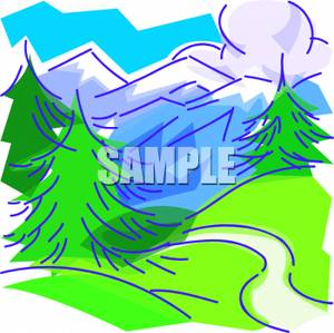 Winding River Clipart Clip Art Image  A Path Winding