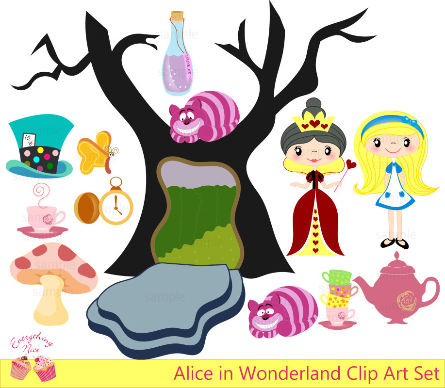 Alice In Wonderland Tea Party Silhouette Clip Art Alice In Wonderland