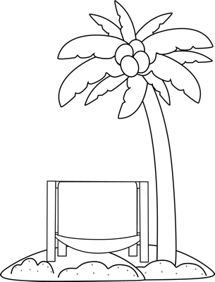 Beach Chair Black And White Clipart - Clipart Suggest