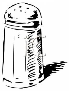Black And White Salt Or Pepper Shaker   Royalty Free Clipart Picture