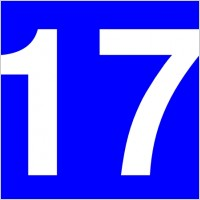 Blue Rounded Rectangle Number 17 Free Vector For Free Download About