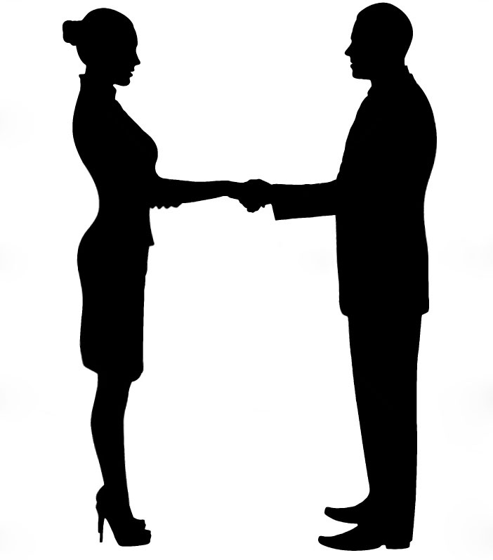 Business People Silhouette Shaking Hands   Clipart Panda   Free