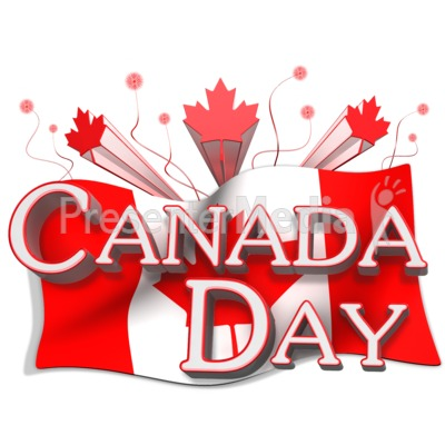 Canada Day Flag And Text   Presentation Clipart   Great Clipart For