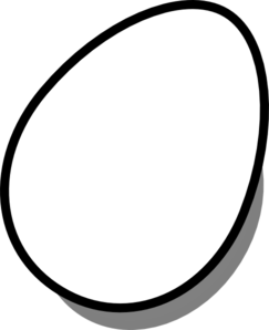 Egg Black And White Clipart - Clipart Suggest