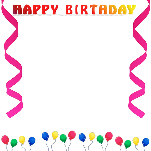 Birthday Borders Cake Clipart - Clipart Kid