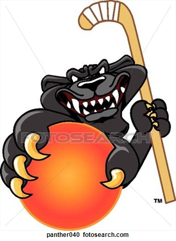 Girls Field Hockey Panthers Clipart