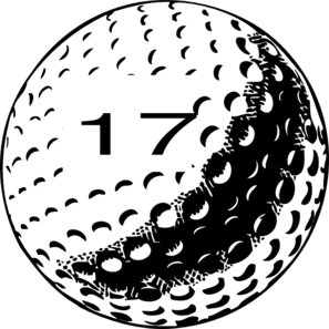 Golf Ball Number 17 Clip Art At Clker Com   Vector Clip Art Online