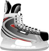 Illustrated Ice Hockey Skate   Royalty Free Clip Art
