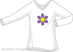 Long Sleeved T Shirt With A Flower Graphic On The Front Of It  Clipart