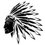 North American Indian Chief Vector Illustration Indian Chief Holding A