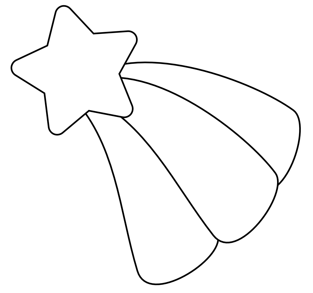 Shooting Star Clip Art Outline   Clipart Panda   Free Clipart Images