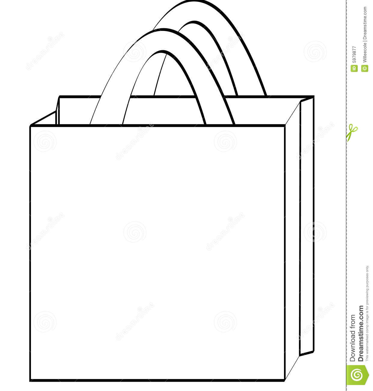 Shopping Bag Outline Royalty Free Stock Photography   Image  5979877