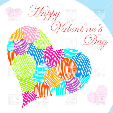 St  Valentine S Day Card Download Royalty Free Vector Clipart  Eps