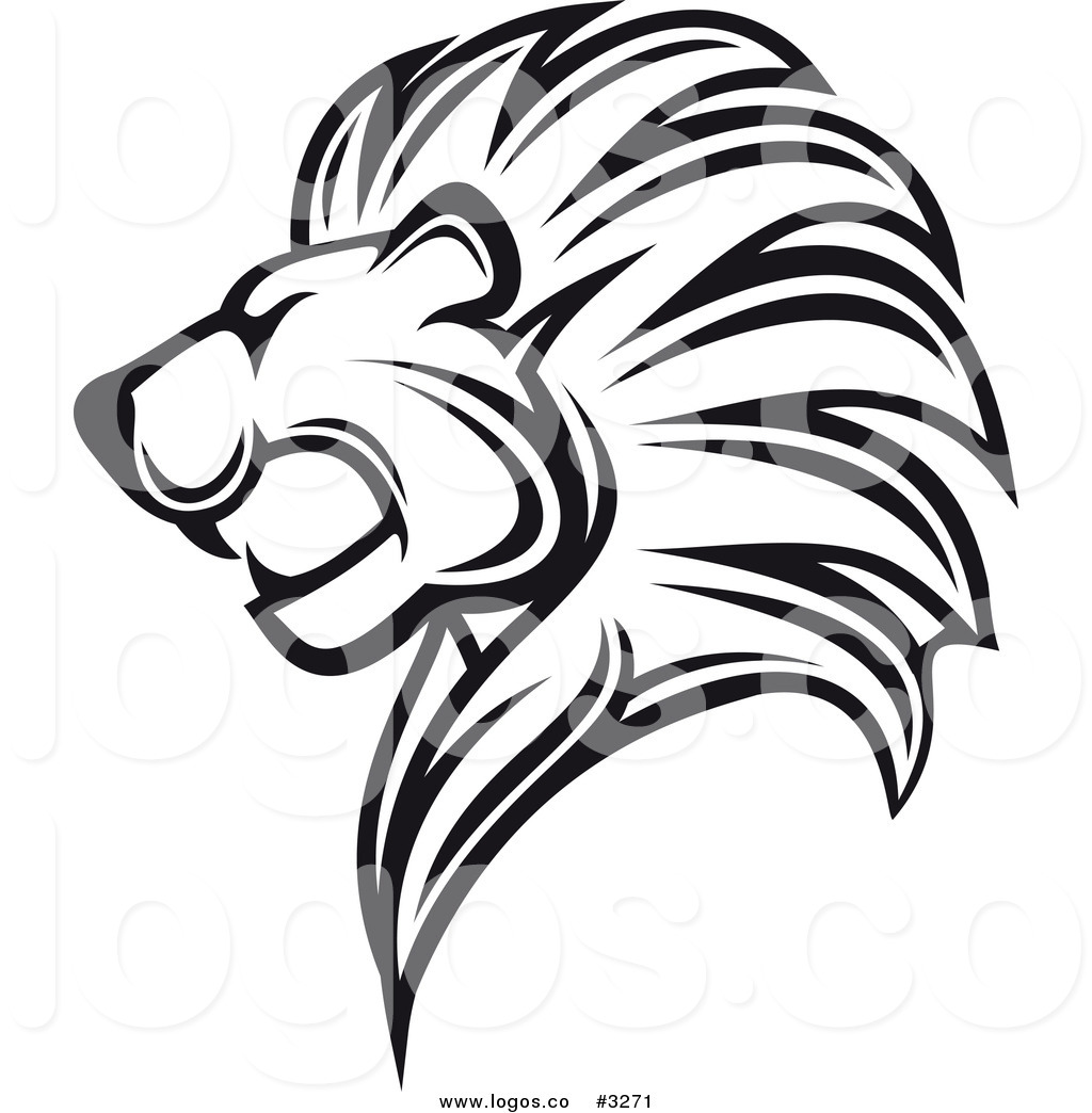 Black And White Lion Head Profile Logo Black Winged Lion Logo Collage