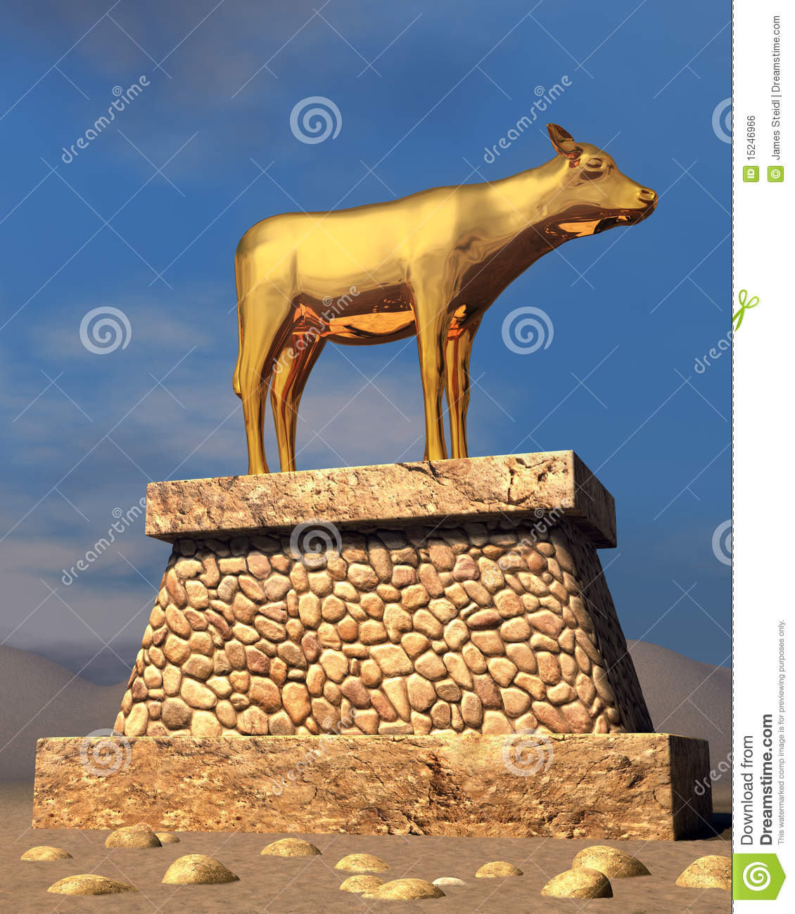 Golden Calf Royalty Free Stock Image   Image  15246966