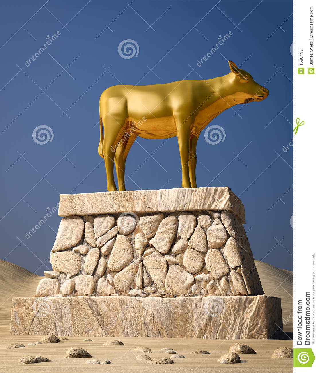 Golden Calf Stock Image   Image  16804571