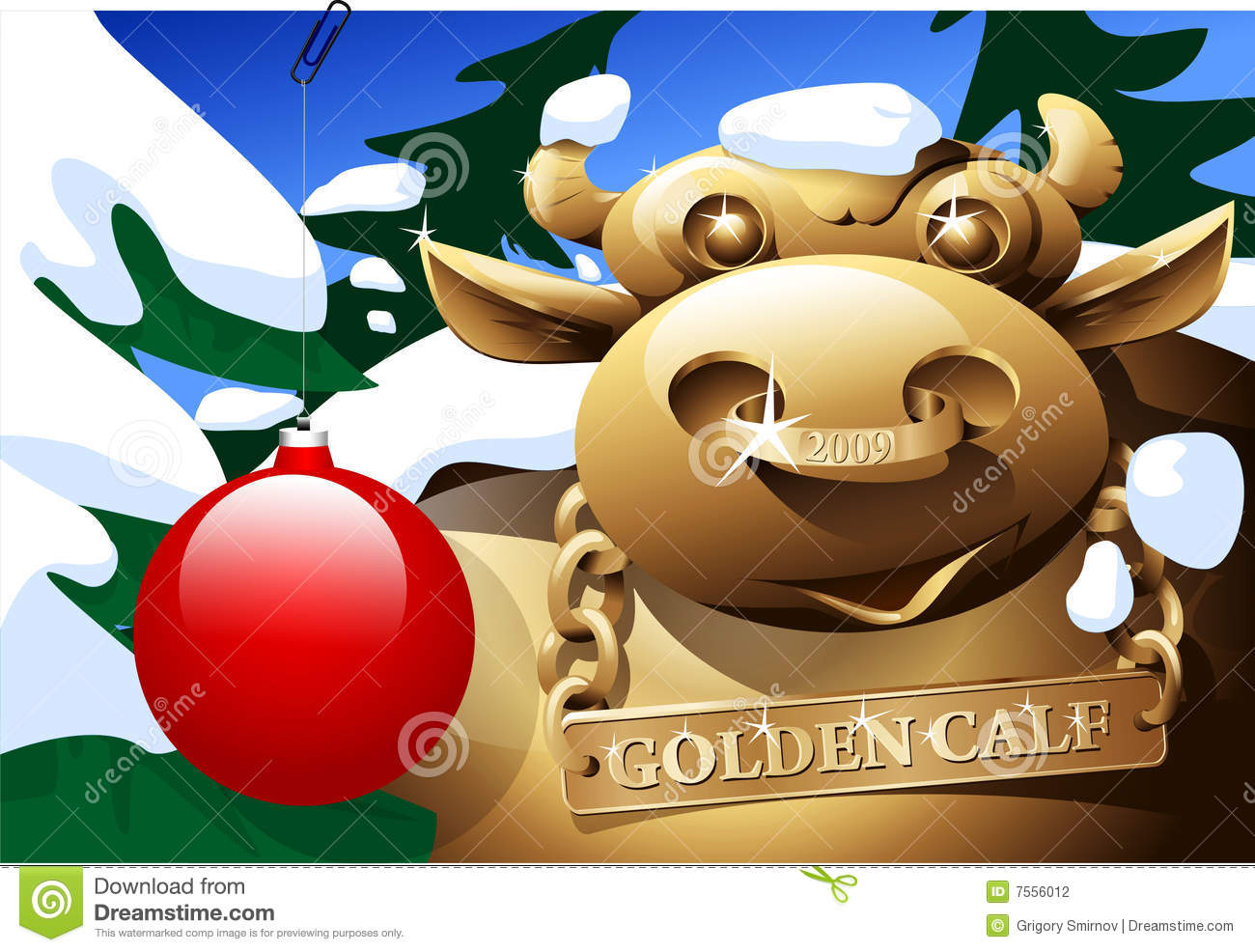 Golden Calf Stock Photography   Image  7556012