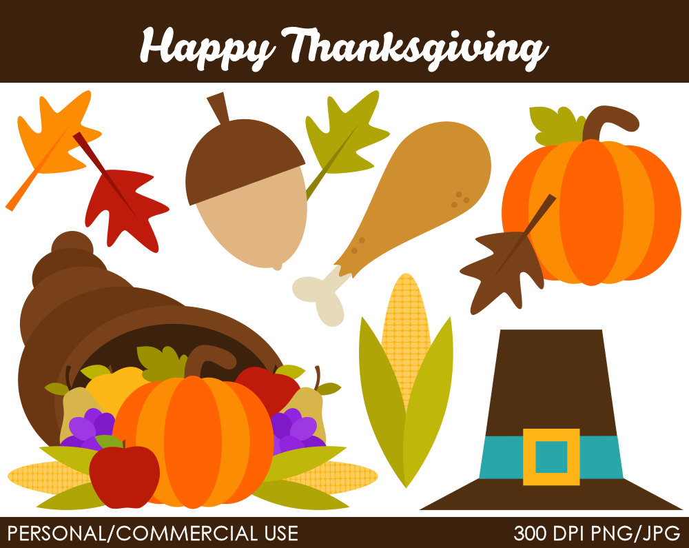 happy thanksgiving clip art - photo #49