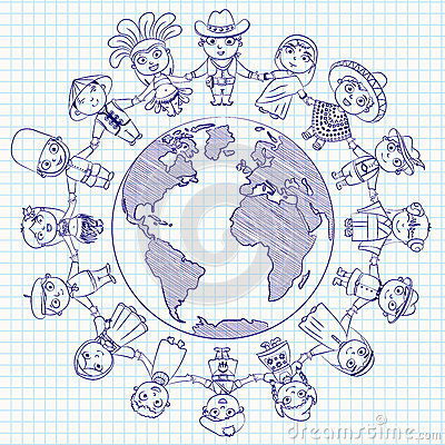 Multicultural Character On Planet Earth Cultural Diversity Traditional