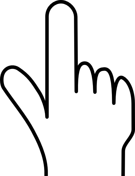 Pointing Finger Without Shade Clip Art