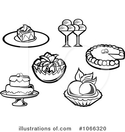Cakes And Pies Black And White Clipart - Clipart Suggest