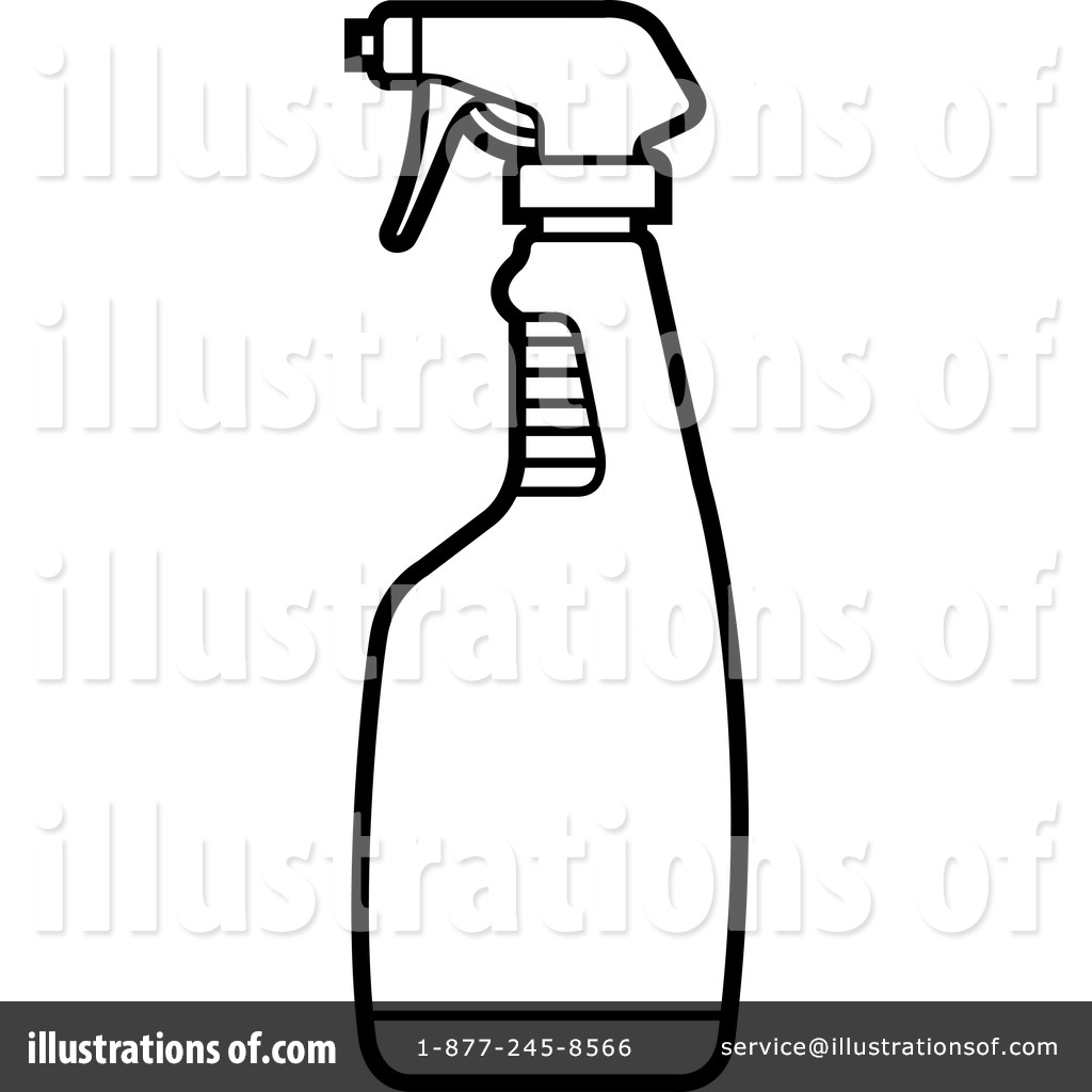 Royalty Free  Rf  Spray Bottle Clipart Illustration  1239049 By Lal