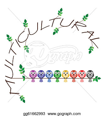 Twig Text Representing Diversity In Society  Clip Art Gg61662993