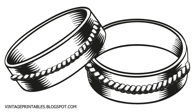 Vintage Retro Wedding Ring Clipart 2 Jpg