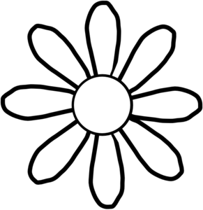 White Flower Clip Art At Clker Com   Vector Clip Art Online Royalty