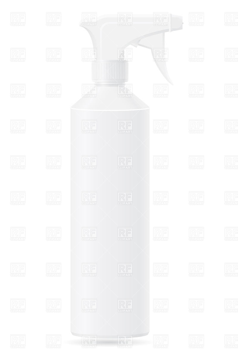 White Spray Bottle Objects Download Royalty Free Vector Clip Art