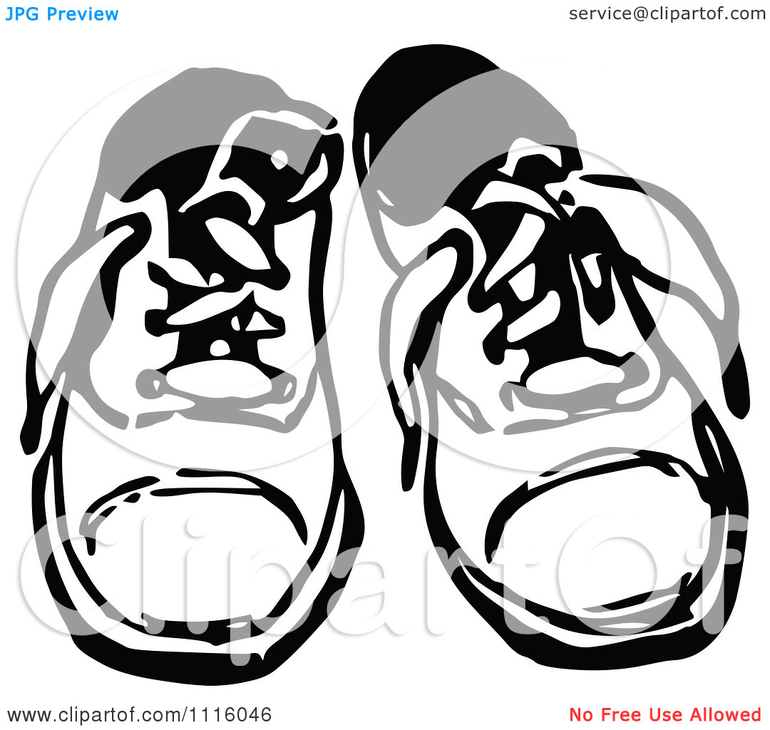 slippers black and white clipart clipart kid