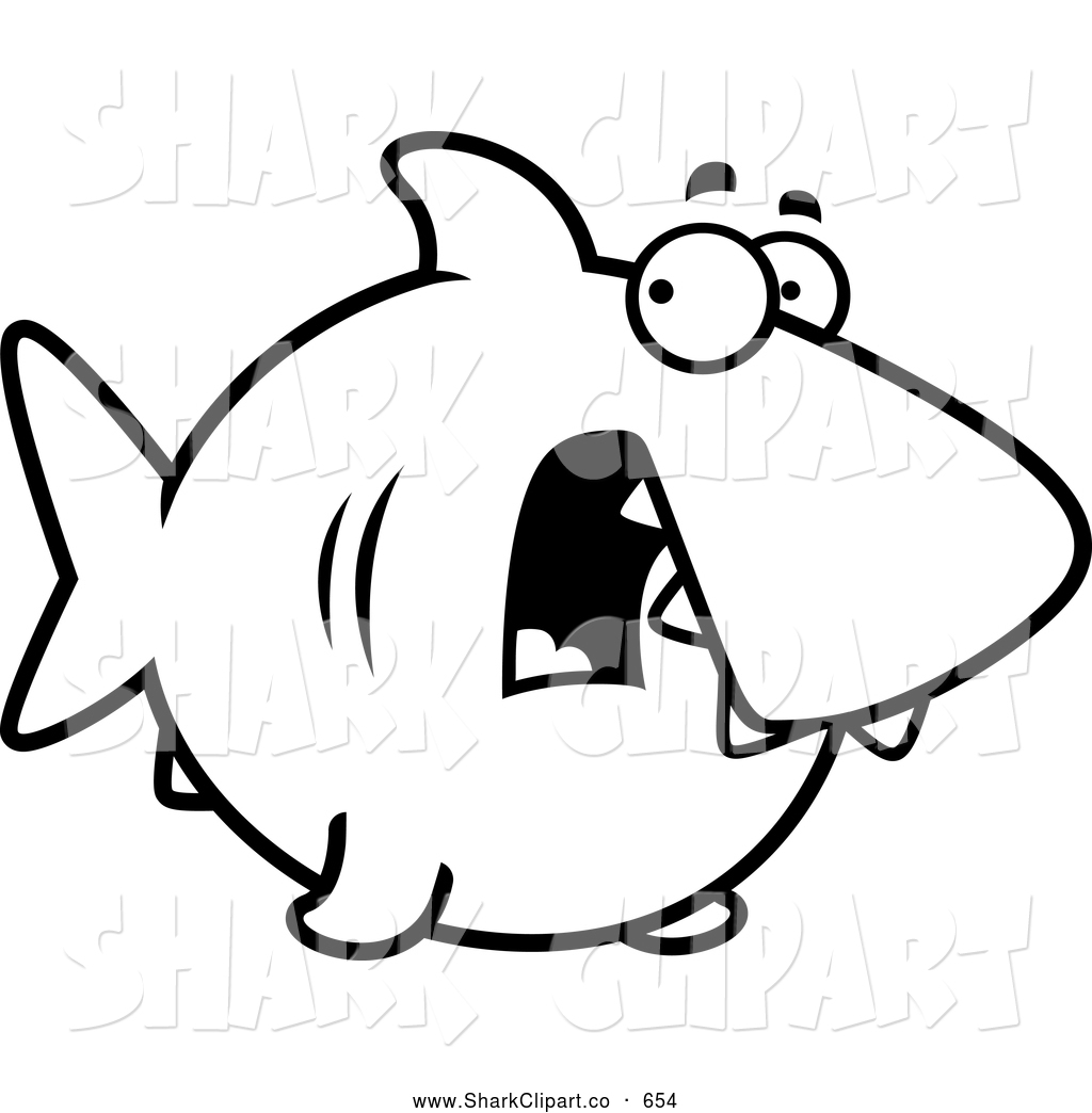 Black And White Scared Shark Shark Clip Art Cory Thoman
