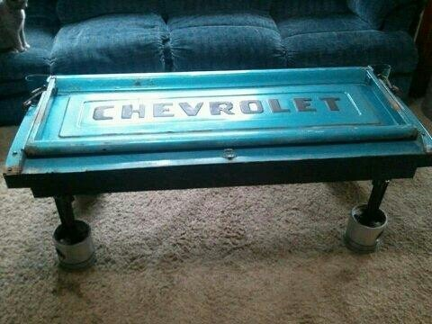 Chevrolet Tailgate Coffee Table   Automotive   Pinterest
