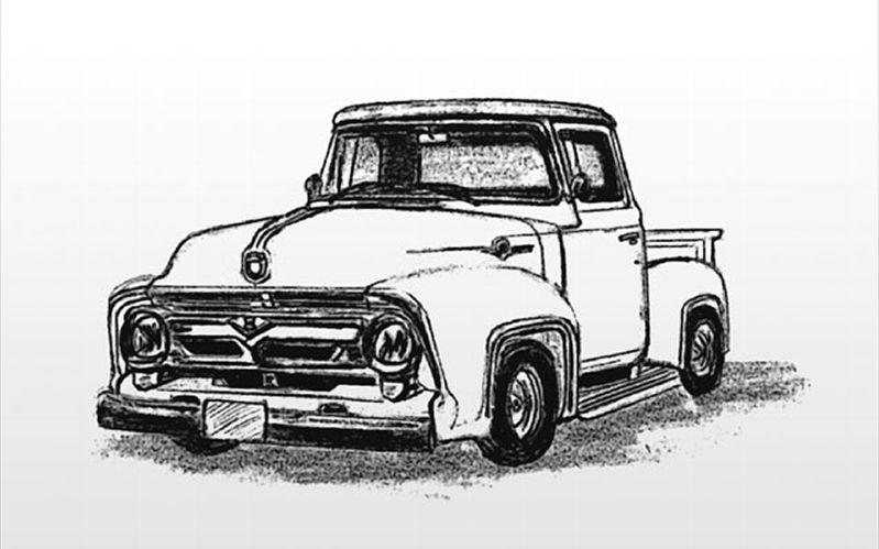 Old Ford Trucks Decals : Old ford tailgate clipart suggest