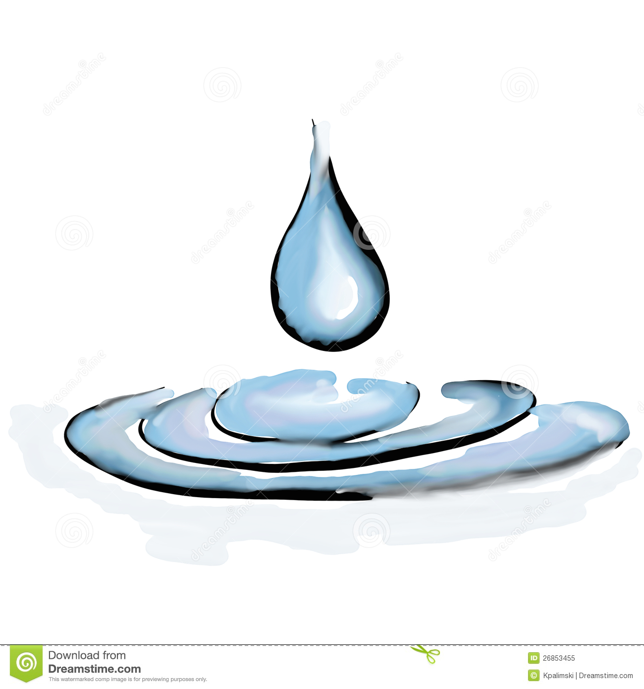 Clear Drop Ripples Water Royalty Free Stock Photo   Image  26853455