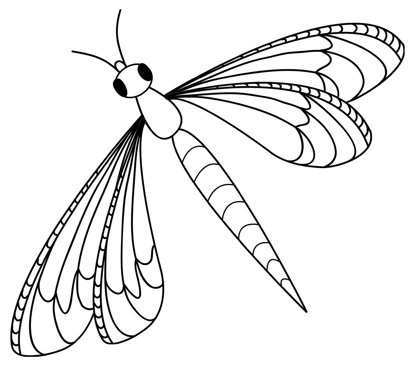 Clip Art  Insects  Dragonfly Grayscale   Abcteach