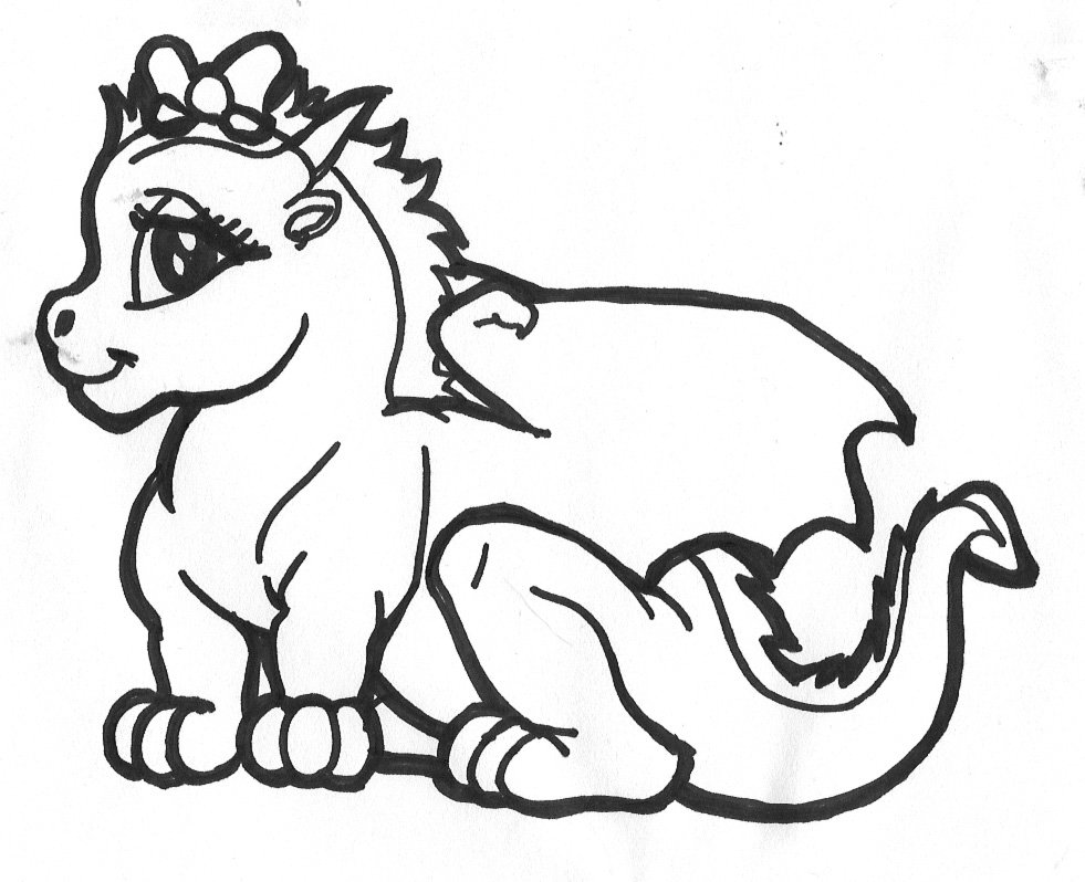 Dragon Printable Coloring Pages   Coloringpages321 Com