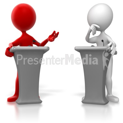 Figure Colored Podium Debate   Education And School   Great Clipart